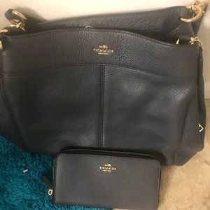 Coach tote and wallet